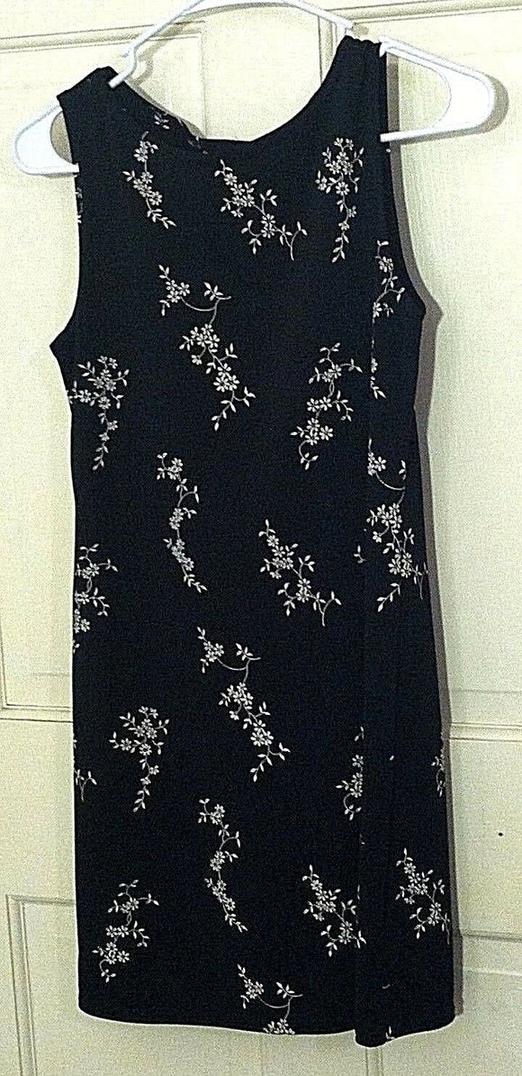 Women's Black Dress w/White Flowers by Jalate (00682)