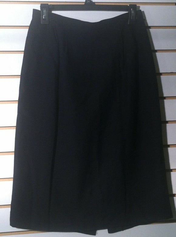 Women's Petite Black Straight Skirt Size 10P (01206)