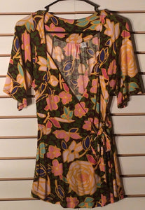 Women's Multi-Color Floral Top Size XS by Ric Rac (01629)