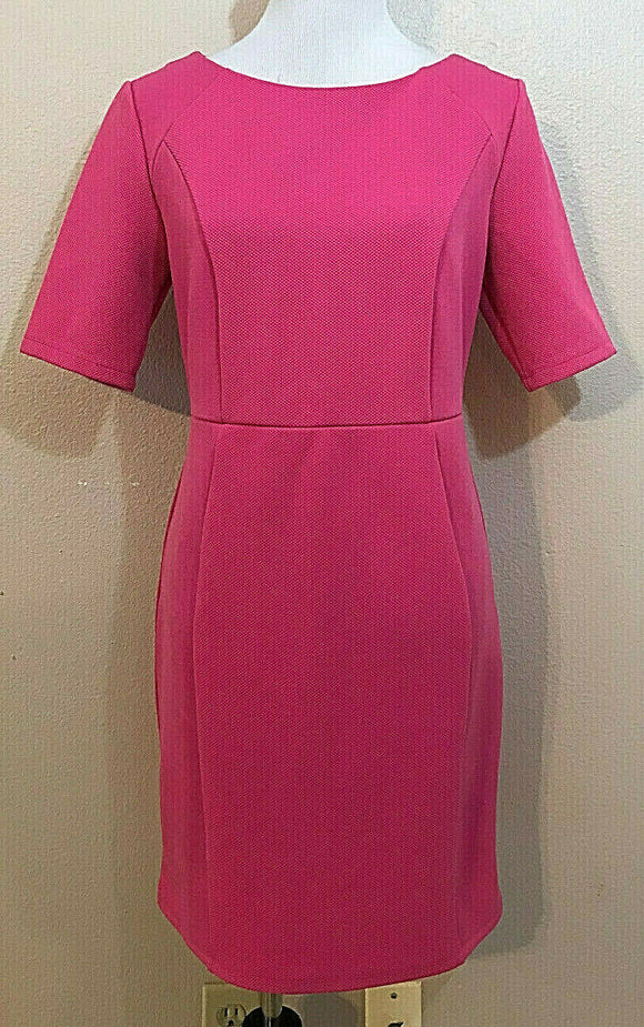 Women's Hot Pink Textured Dress Size 16 by Dorothy Perkins (04363)