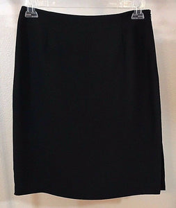 Women's Black Straight Skirt Size 10 by Scott Taylor (02953)