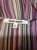 Women's Purple Striped Sheer Top Size S by Daniel Rainn (02004)