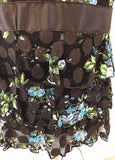 Women's Brown Ruffled Layered Top Size M by INC International Concepts (03025)