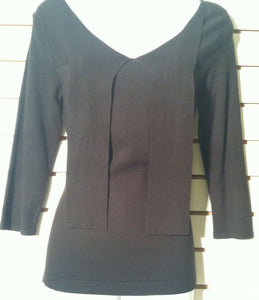 Women's Black Knit Top  Size XS by Ann Taylor Loft (01141)