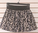 Women's Black & White Embellished Animal Print Skirt Size S by Papaya (02226)