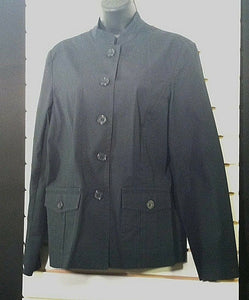 Women's Navy Blue Car Coat by Liz Claiborne (00451)