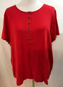 Women's Plus Size Red Top Size 3X by Ralph Lauren (03560)