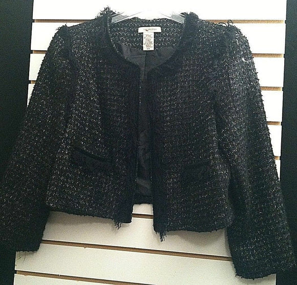 Women's Black Sparkly Shorty Jacket by Covington (00110)
