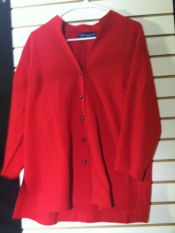 Women's Red Blazer Size L by Susan Graver (00880)