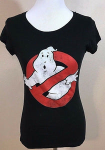"Women's Black ""Ghostbusters"" Top Size S by Ghostbusters (02970)"