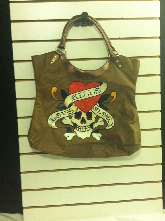 Women's Large Tote Christian Audigier Love Kills by Ed Hardy (P119)