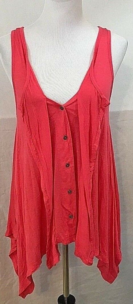 Women's Bright Coral Asymmetrical Tunic Szie S by Nine West Jeans (03508)