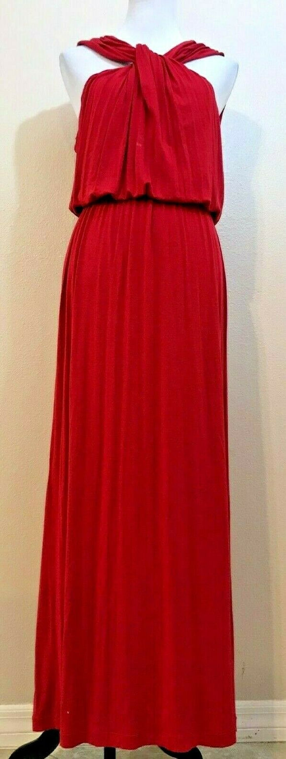 Women's Deep Rose Long Sleeveless Dress Size L by M.S.S.P. (04163)