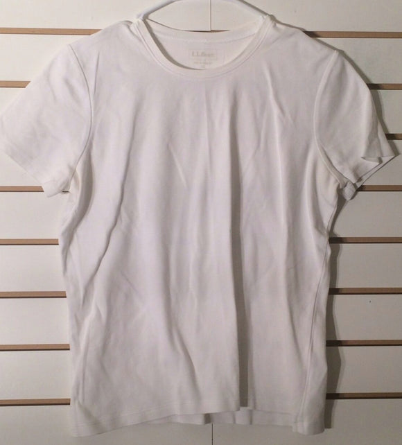 Women's Ecru Cotton Top Size M by L.L. Bean (01894)