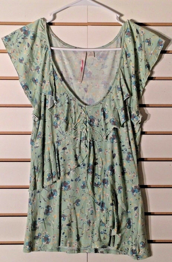 Women's Green Floral Top Size XS by Lauren Conrad (01996)