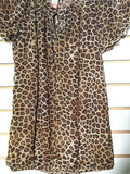 Junior's Brown Animal Print Blouse Size M (7-9) by No Boundaries (00556)