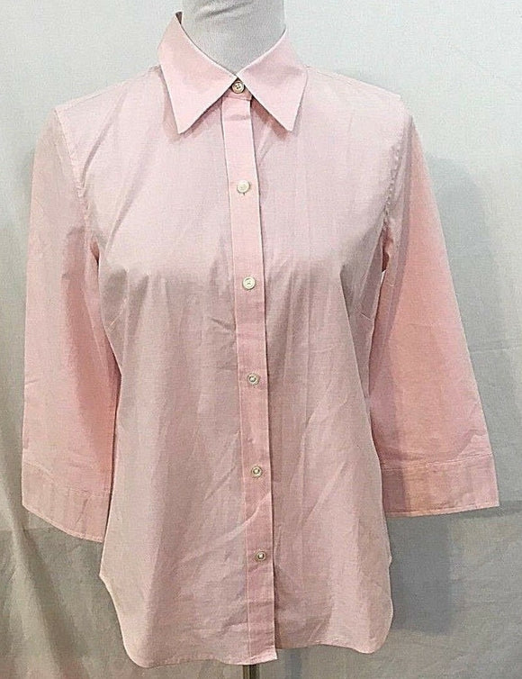 Women's Pink Button Down Shirt Size M by IZOD (03329)