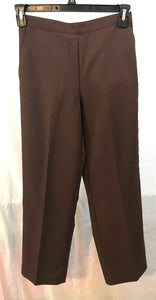 Women's New Petite Brown Pants Size 6P by Alfred Dunner (03495)