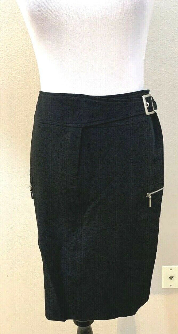 Women's Black Straight Skirt by Spirit (04383)