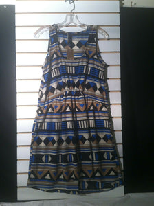 Women's New Blue Tribal Dress by Blue Rain (01211)