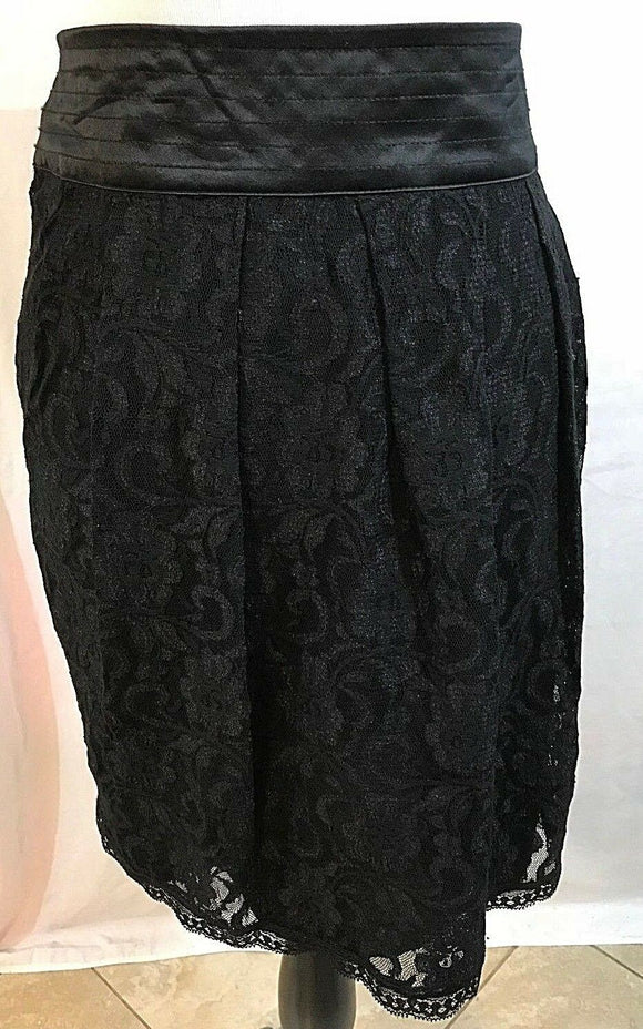 Women's Black Lace Flare Skirt Size 16 by Worthington (03185)