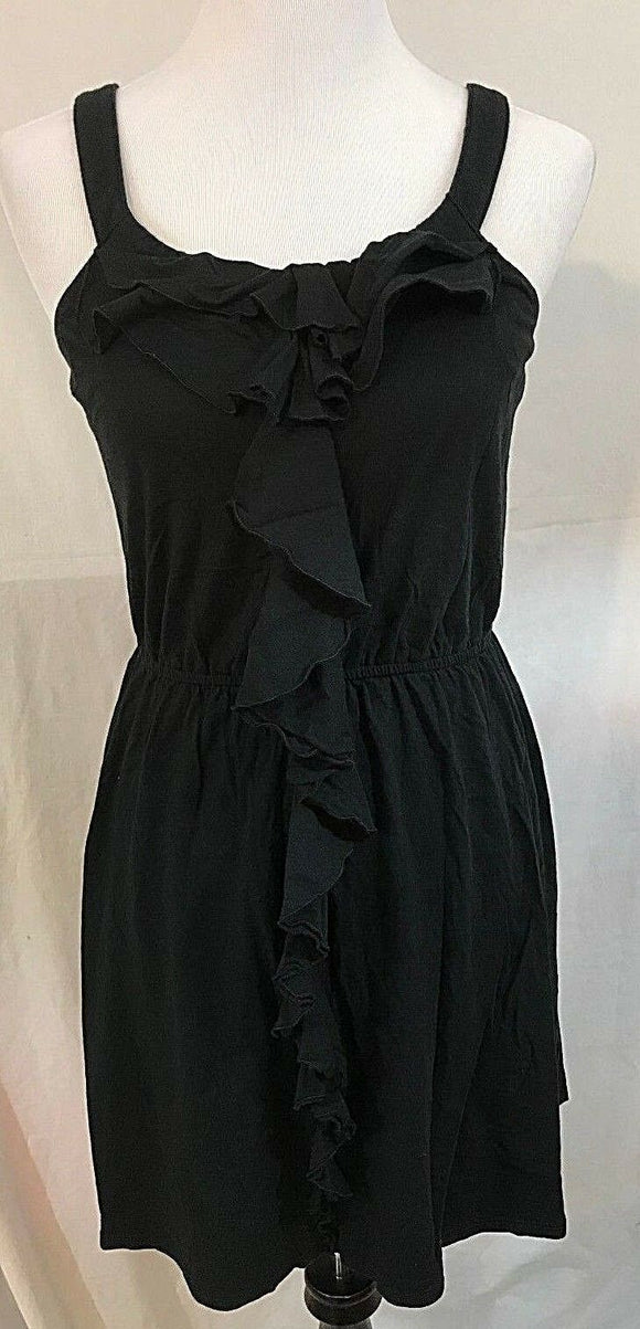 Women's Black Ruffled V-Neck Dress Size S by Express (03271)