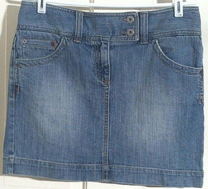 Women's Blue Denim Skirt Size 6 by Ann Taylor Loft (00654)