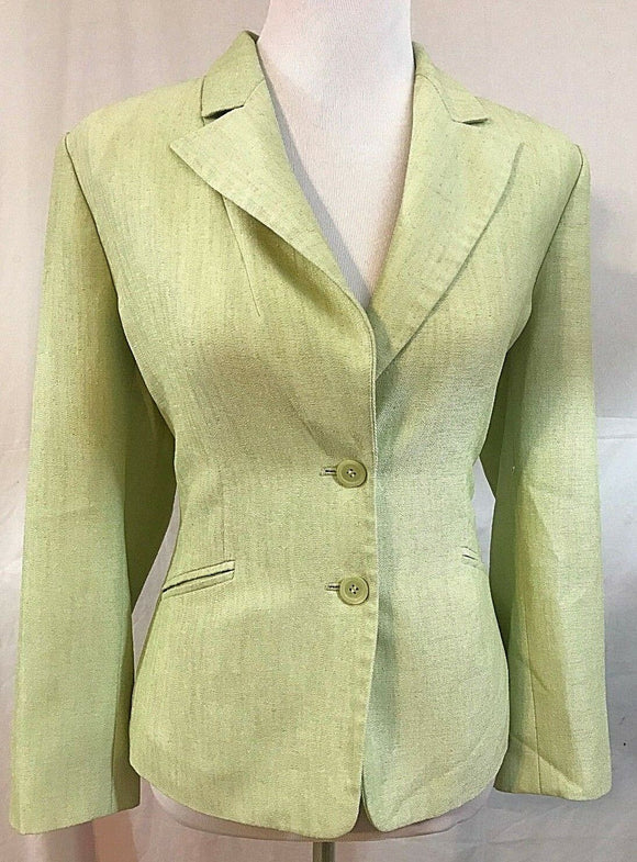 Women's Petite Mint Green Blazer Size 10P by Kasper (03396)