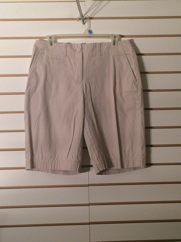 Women's Tan Stretch Walking Shorts by Talbots (01900)