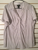 Women's Plus Size Striped Short Sleeve Shirt Size 20 by Lane Bryant (01785)