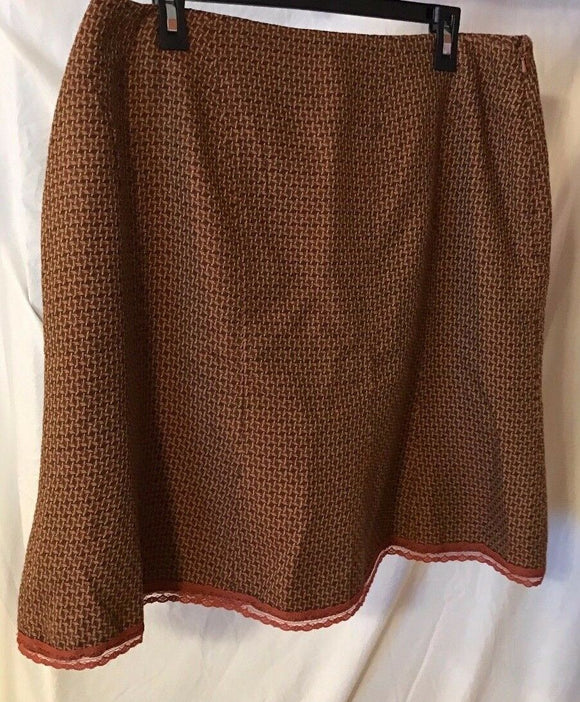 Women's Orange Tweed A-Line Skirt Size 16 by Worthington (02670)