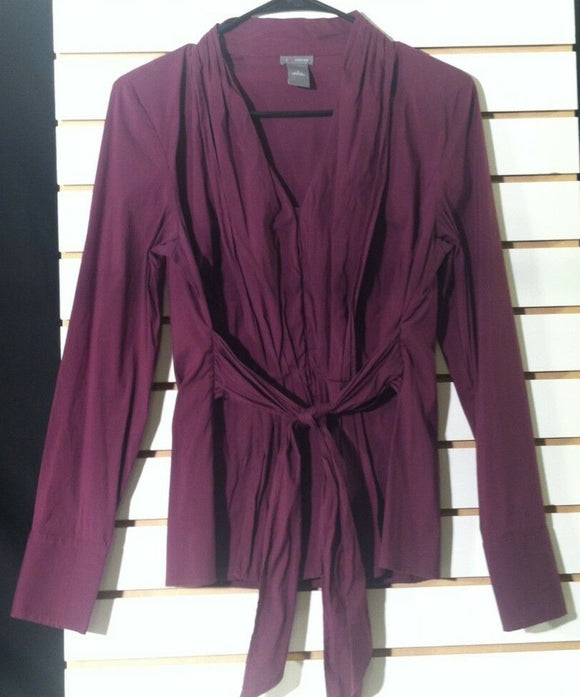 Women's Plum Colored Shirt Size 6 by Ann Taylor (01046)