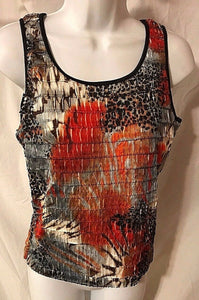 Women's Multi-Color Stretchy Layered Tank Top Size S by Erin London (02885)