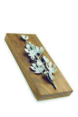 DECORATIVE BRASS FIG BRANCH