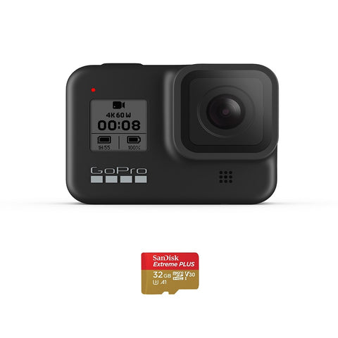 Gopro Camera Hero8 Black Speciality Bundle With Sd Card