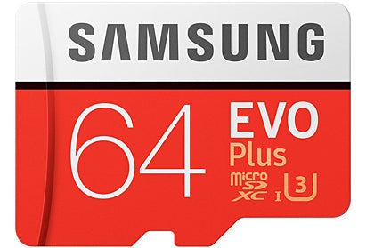 Samsung EVO PLUS Micro SD Memory Card 64GB SDXC with Adapter