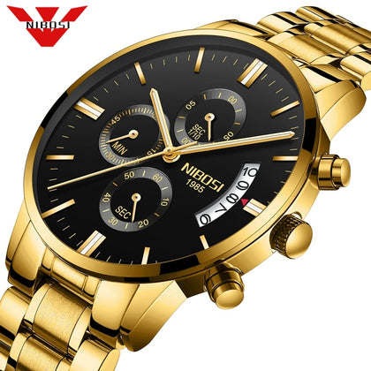 NIBOSI Relogio Masculino Men Watches Luxury Famous Top Brand Men's Fashion Casual Dress Watch Military Quartz Wristwatches Saat - shophdinner