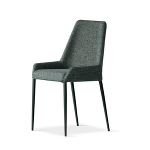 Chair with metal structure and fabric seat