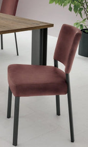 Chair with metal structure and fabric seat leather by Sedit