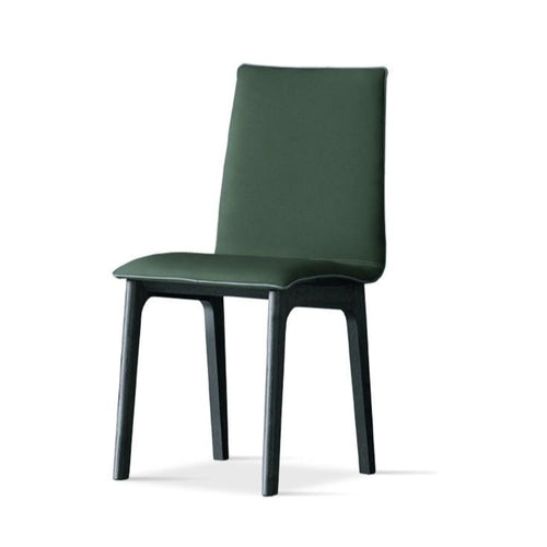 Chair with wooden structure metal and fabric seat leather
