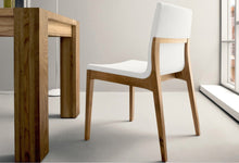 Load image into Gallery viewer, Chair with wooden structure and fabric seat leather by Sedit