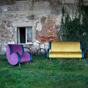 Ata 2 Seater Upholstered Sofa by Adrenalina by Simone Micheli