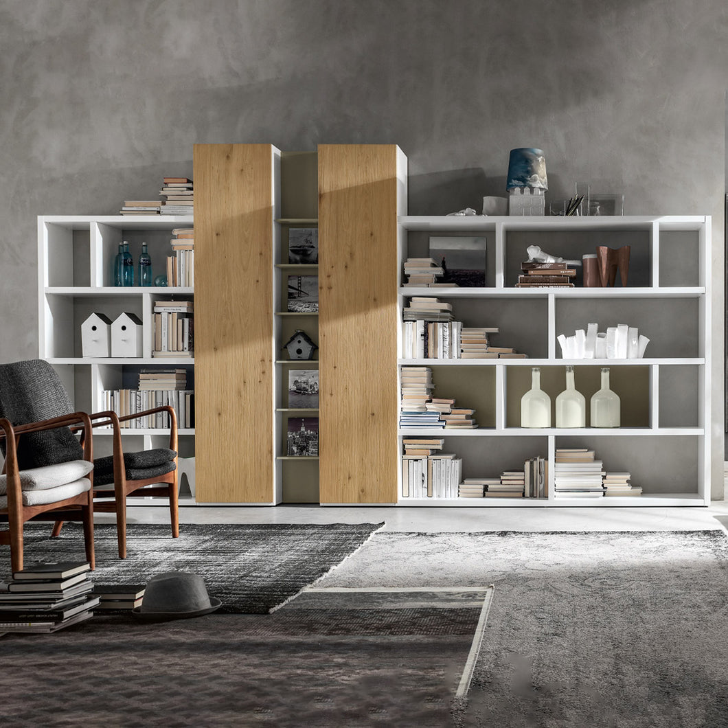 Bookcase with storage comp Integra GS108 by Santa Lucia