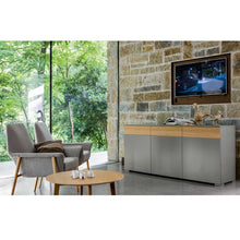 Load image into Gallery viewer, Slim modern Italian large sideboard by Dall'Agnese