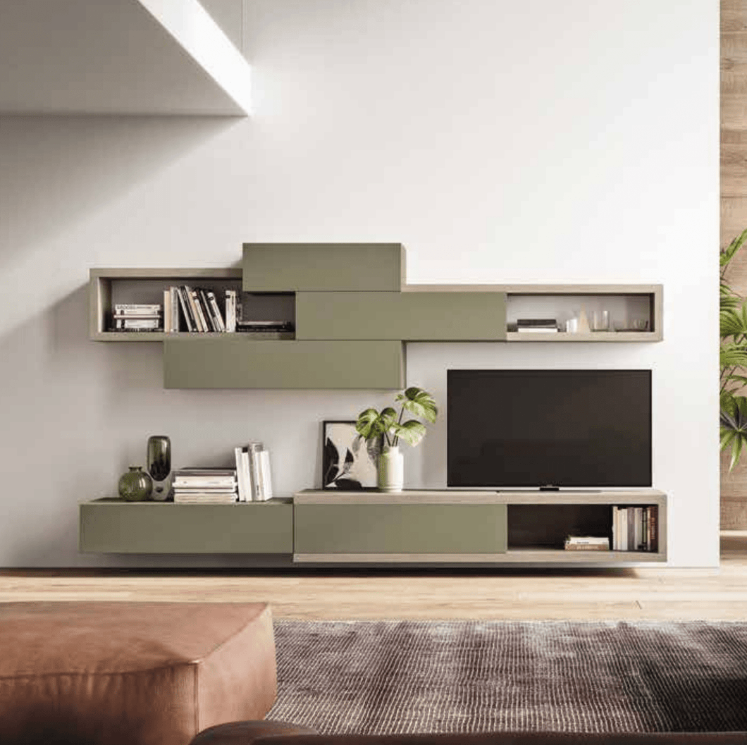 Wall mounted Day-10 TV media unit by Orme - myitalianliving