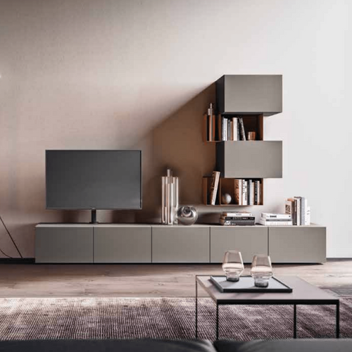 Day-12 TV media unit with combination storage by Orme - myitalianliving