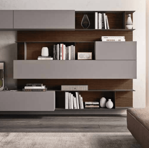 Large wall mounted Day-16 TV media unit by Orme - myitalianliving