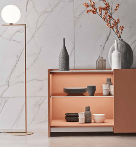 Modern Clio marble top sideboard with drawers by Orme - myitalianliving