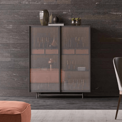 Modern tall Glass sideboard by Orme - myitalianliving