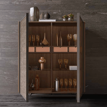 Load image into Gallery viewer, Modern tall Glass sideboard by Orme - myitalianliving